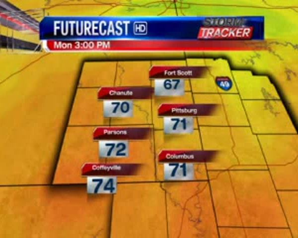 Kansas Regional Weather for 5-22-17