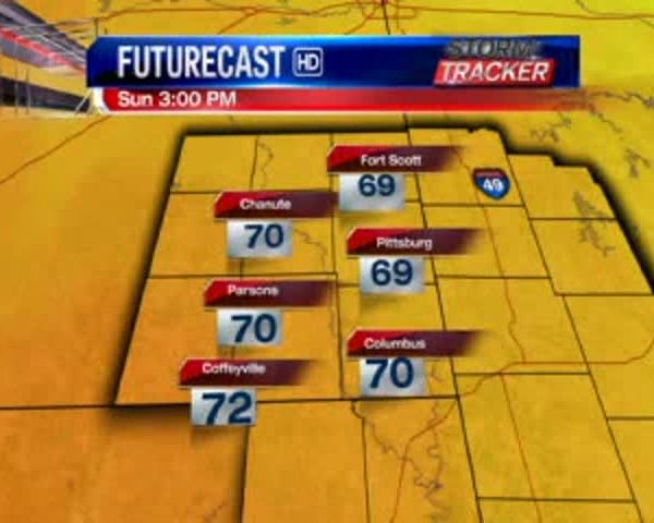Kansas Regional Weather for 5-21-17