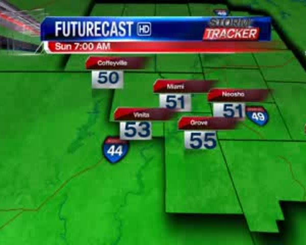 Oklahoma Regional Weather for 5-21-17