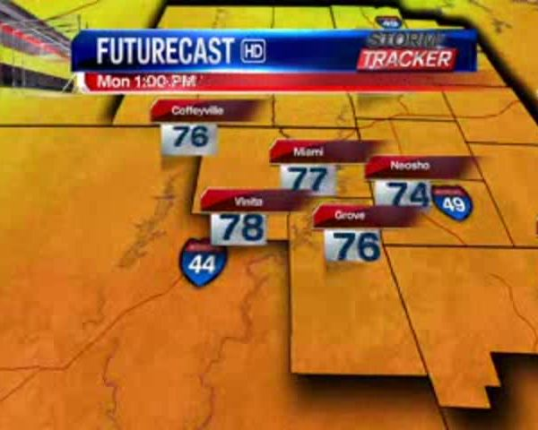 Oklahoma Regional Weather for 5-22-17