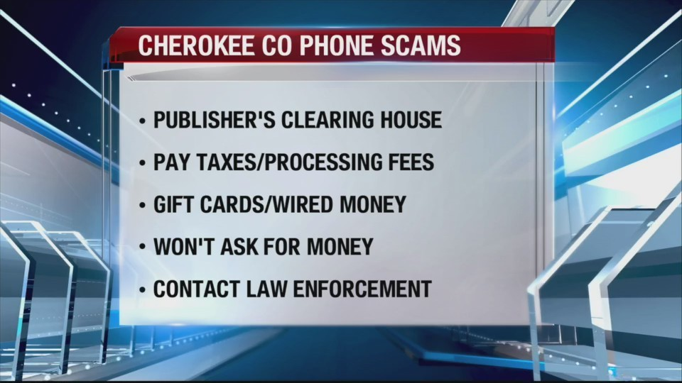 New scam in Cherokee County