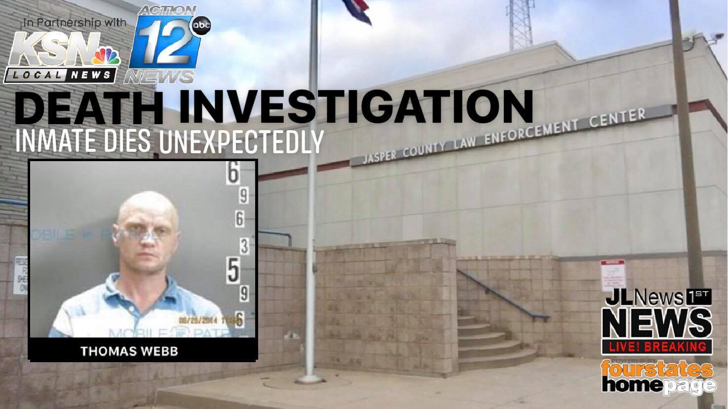 Inmate unexpectedly dies in the county jail sparking death investigation