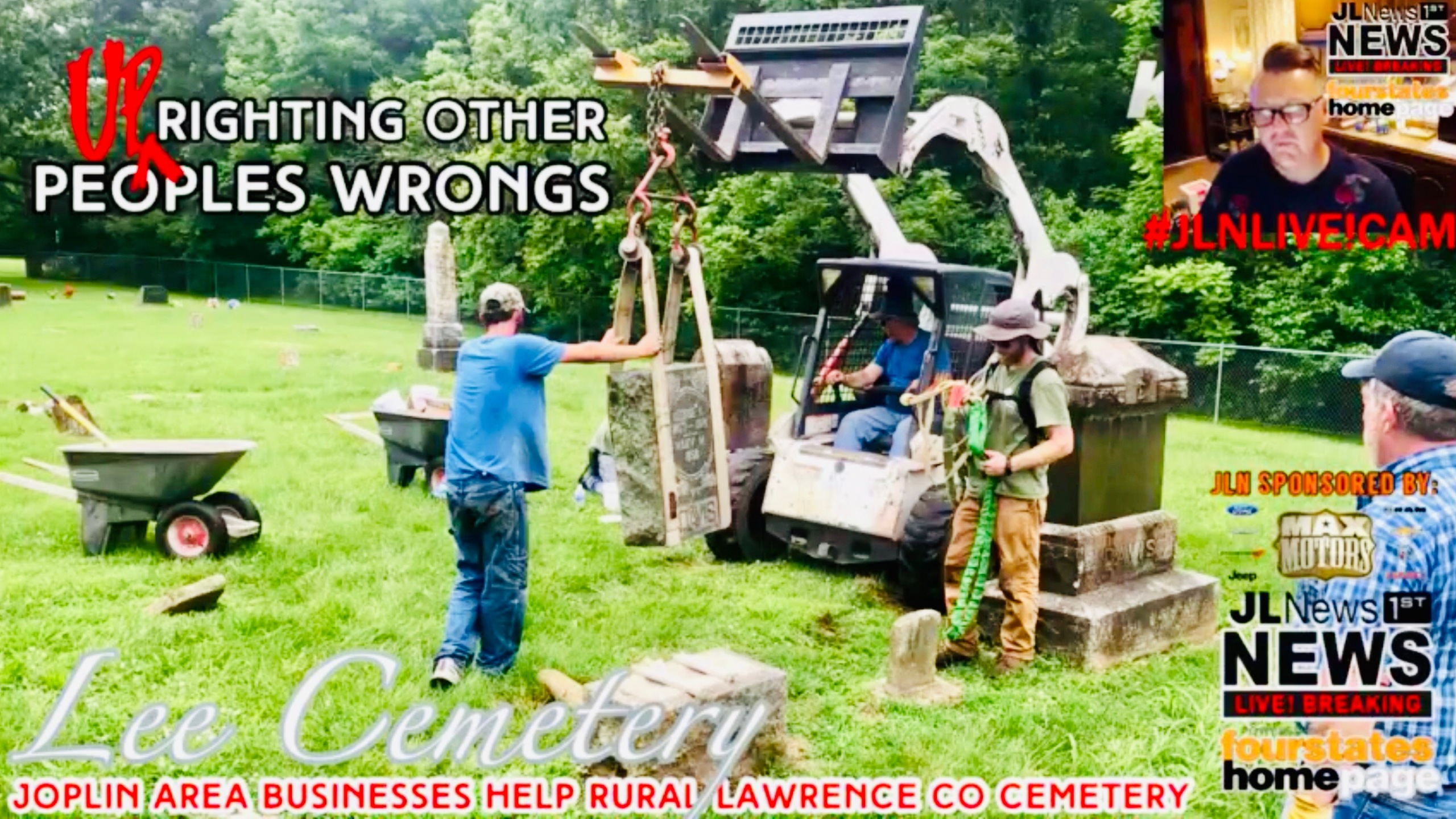 UP'righting other people's wrongs at Lee Cemetery in rural