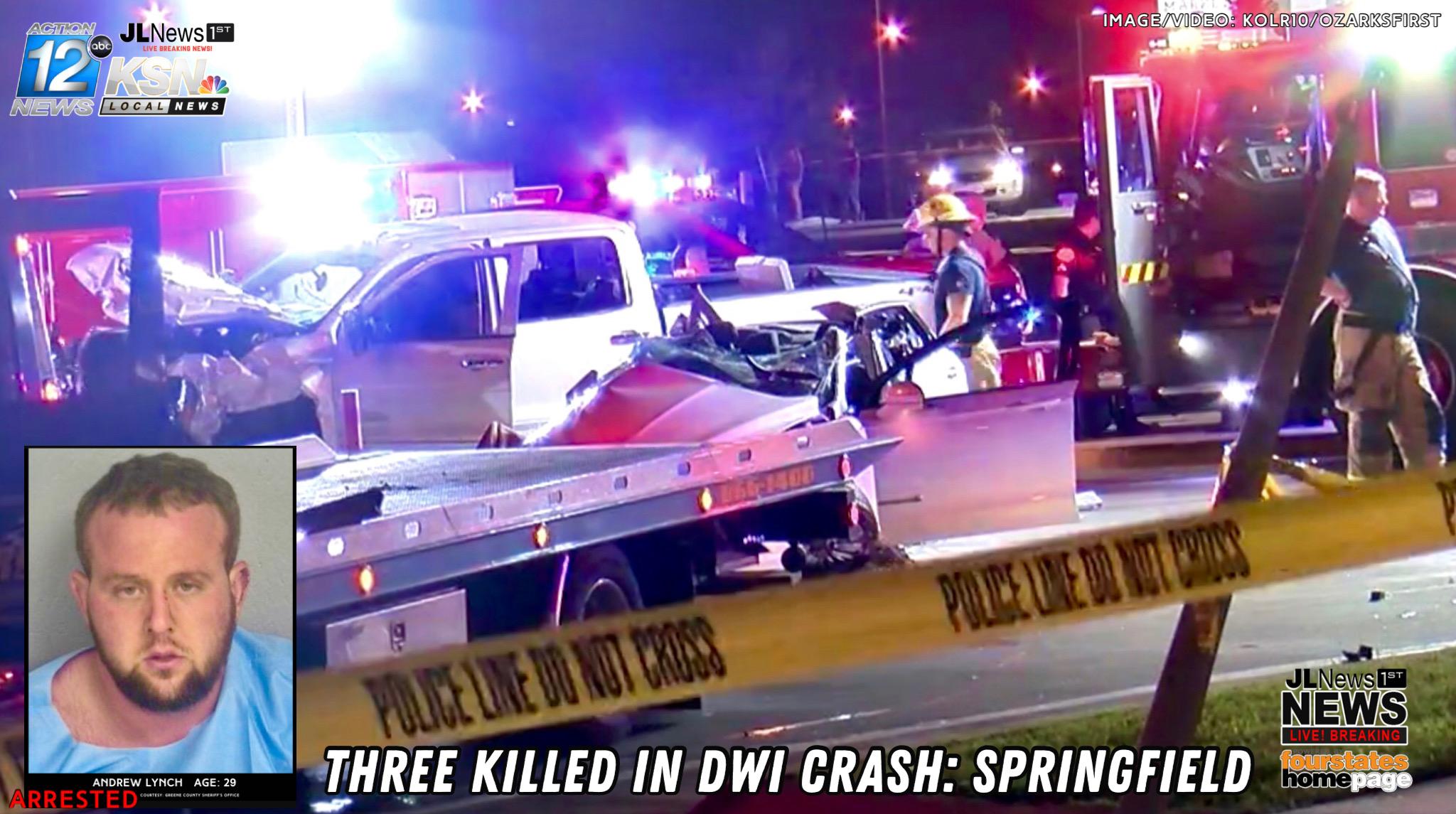 THREE KILLED IN DWI CRASH IN SPRINGFIELD | KSNF/KODE
