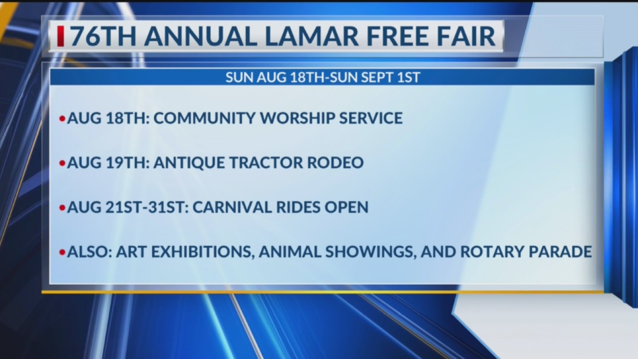 Lamar Free Fair 2020.Annual Lamar Free Fair Includes Numerous Activities For