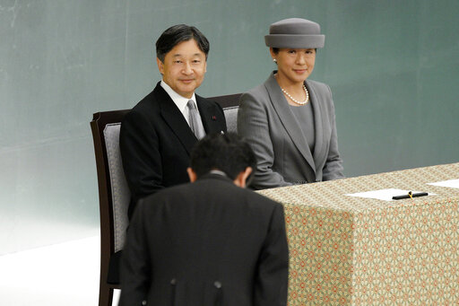 Naruhito, Masako, Shinzo Abe