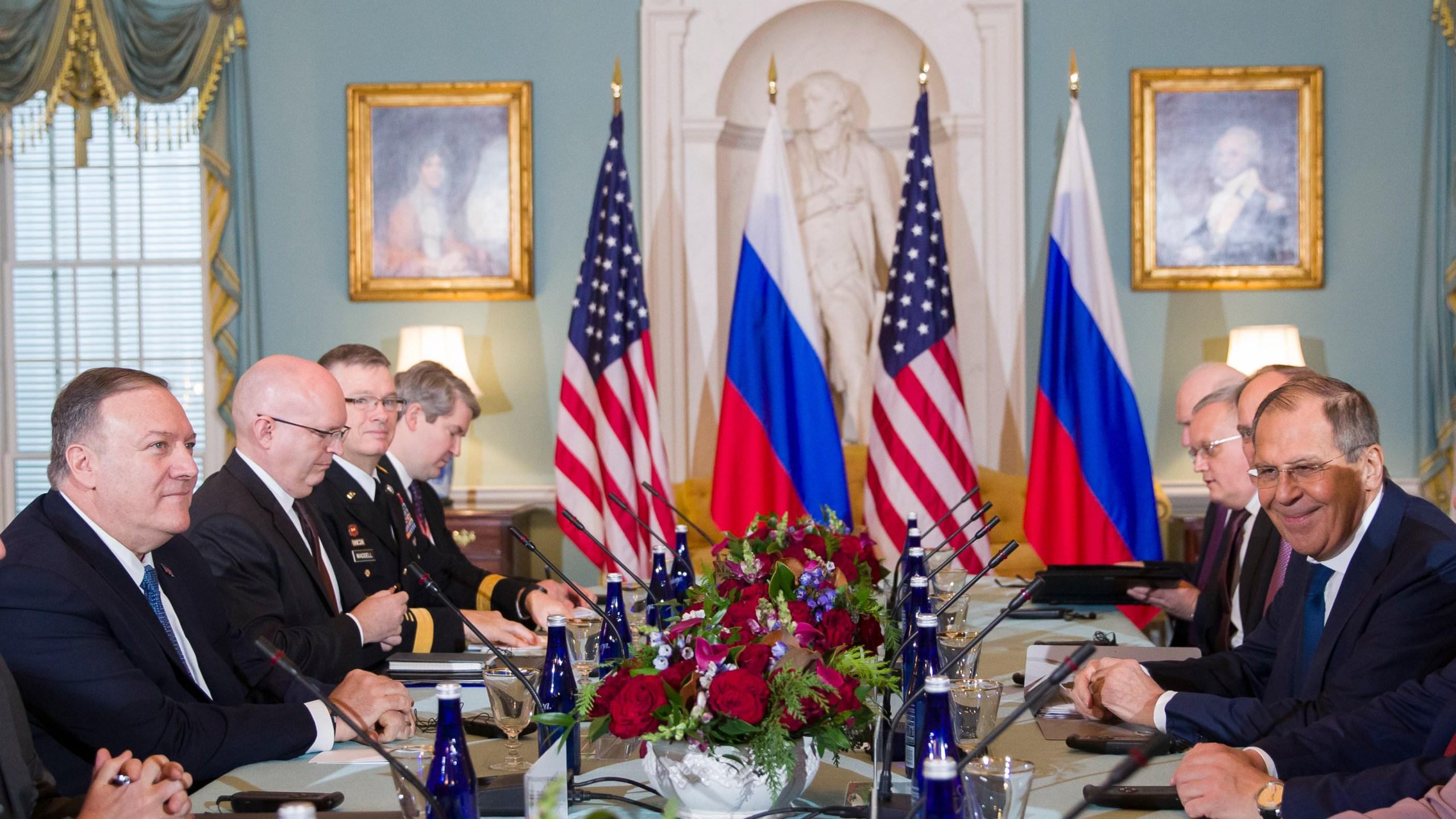 Mike Pompeo, Sergey Lavrov