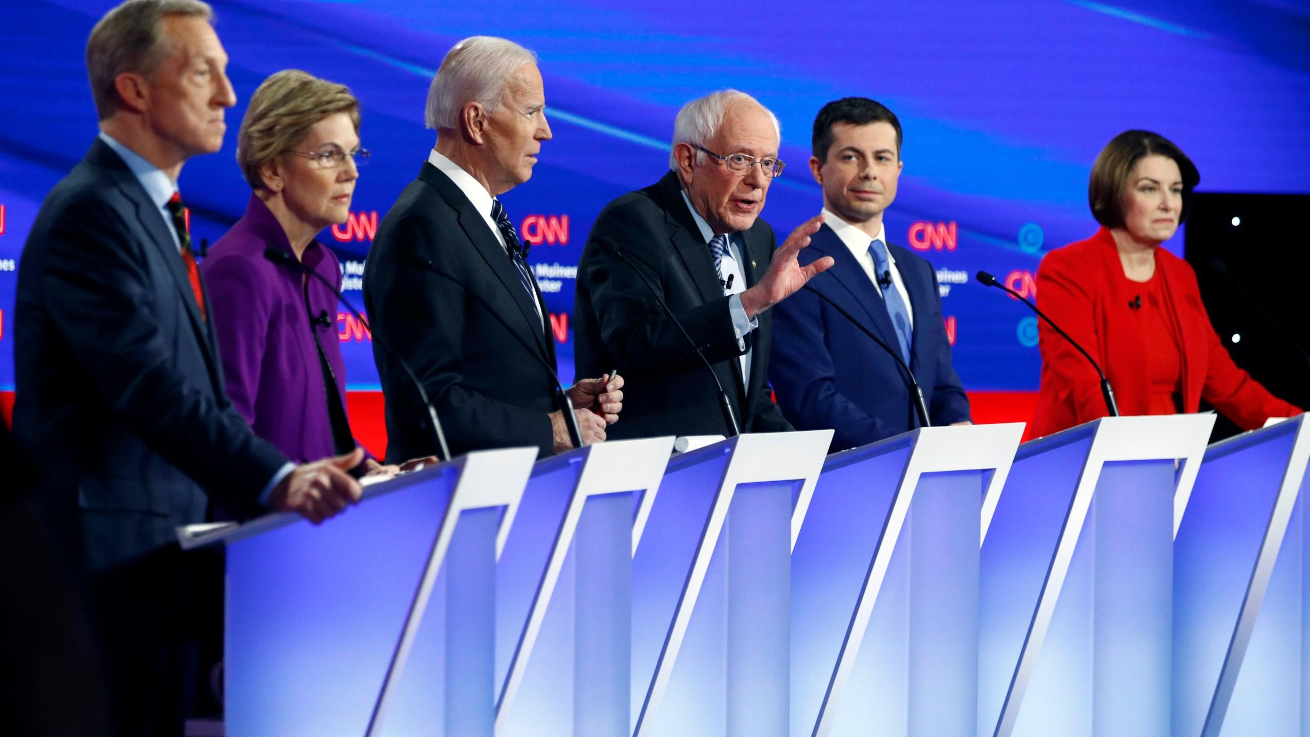 Amy Klobuchar, Pete Buttigieg, Bernie Sanders, Joe Biden, Elizabeth Warren, Tom Steyer