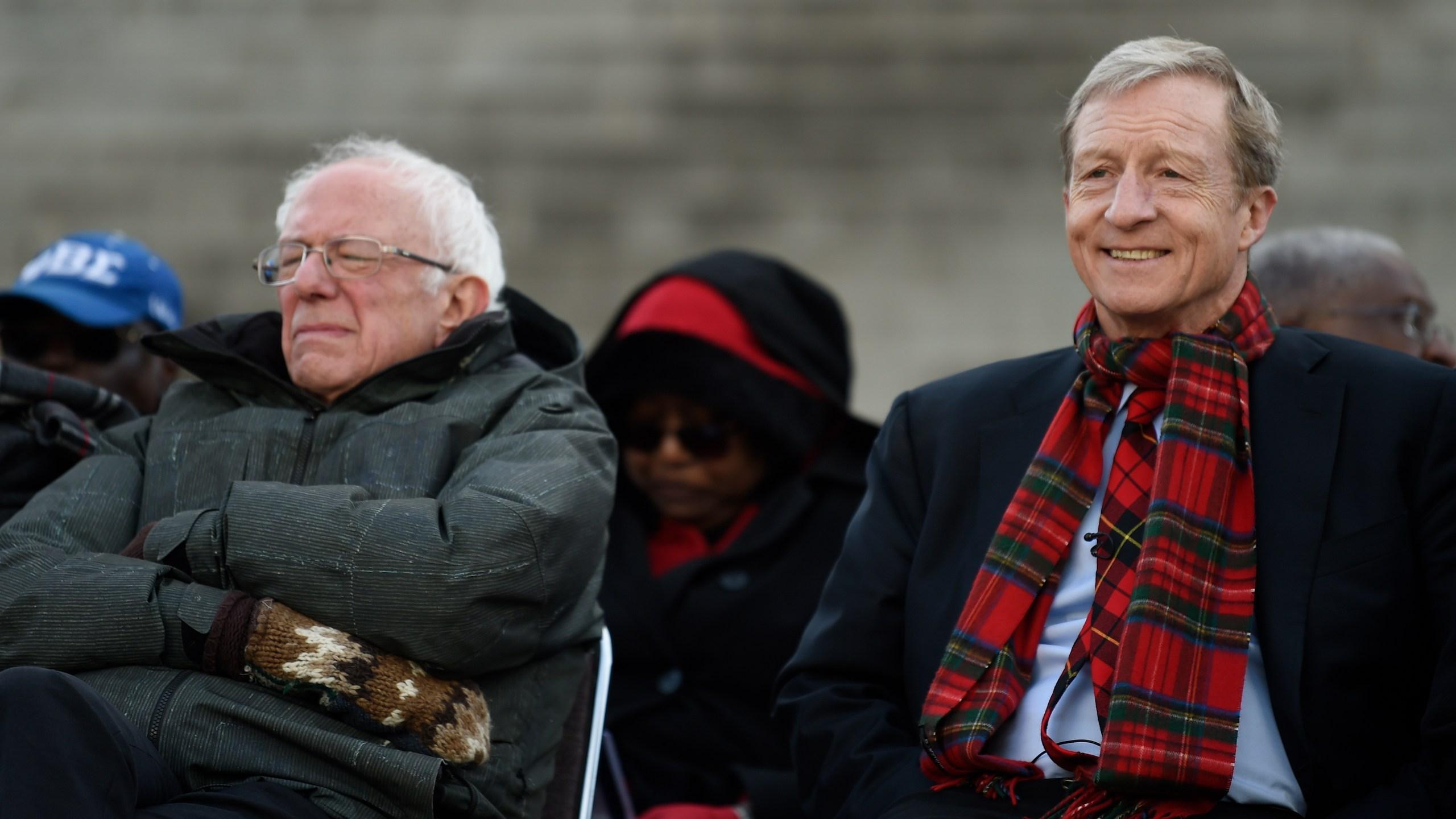 Bernie Sanders, Tom Steyer
