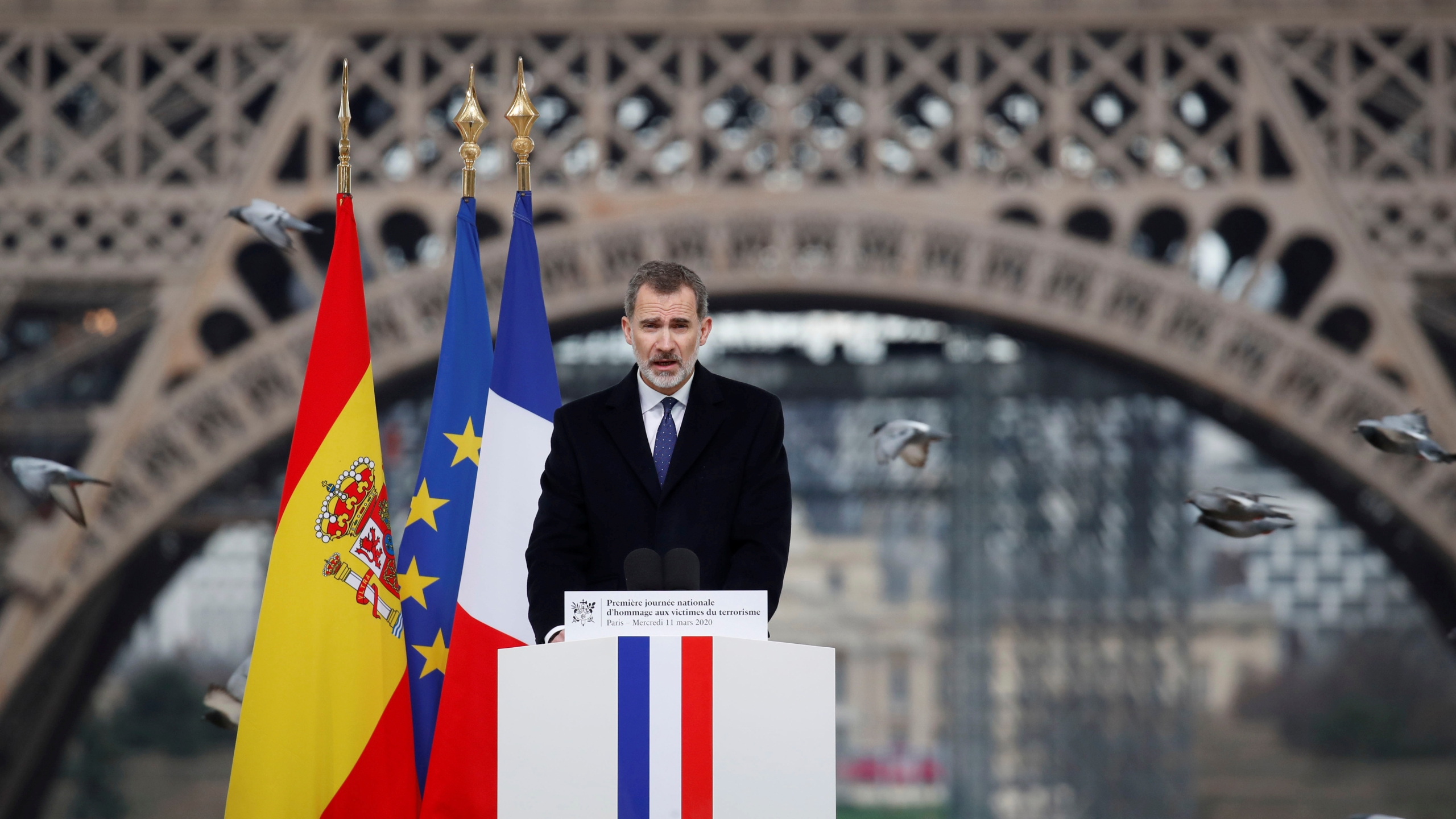Ceremony to honour victims of terror attacks in Europe in Paris