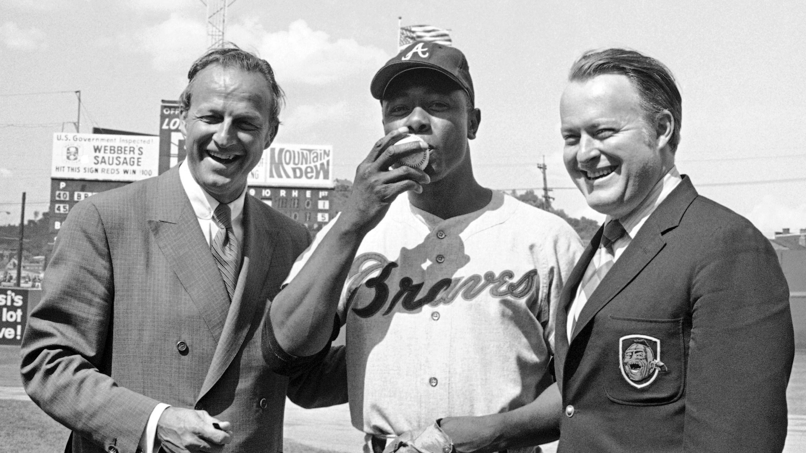 Hank Aaron, Stan Musial, Bill Bartholomay