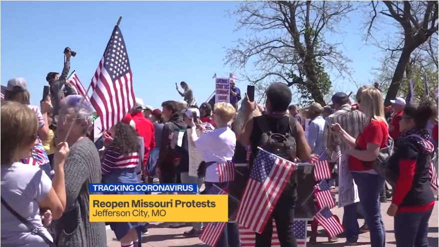 Protest Held At Missouri Capitol Over Stay At Home As