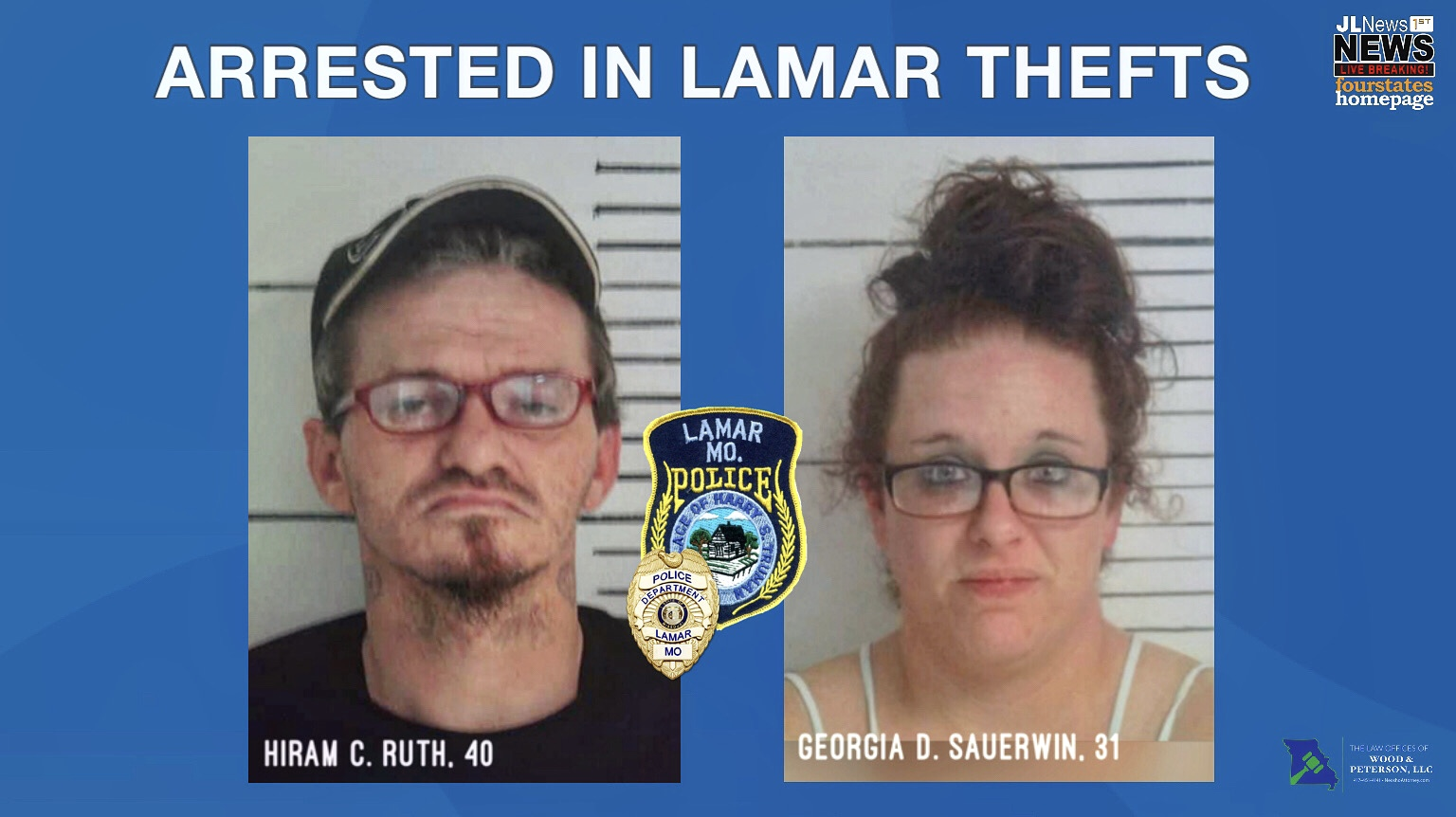 Two Arrested Related to Lamar Thefts; Charges Submitted to ...