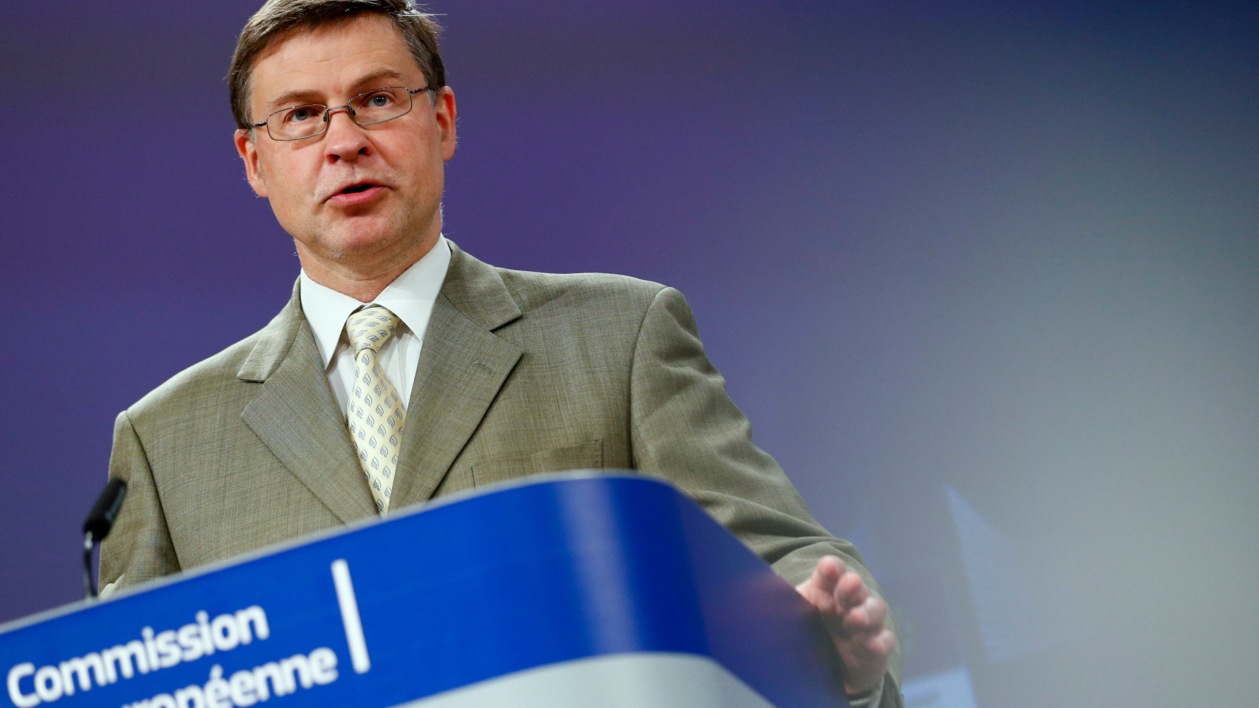 EU Commission news conference on European Semester Spring Package in Brussels
